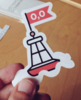 MZ Null Island Sticker